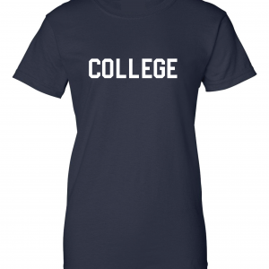 College, Navy/White, Women's Cut T-Shirt