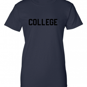 College, Navy/Black, Women's Cut T-Shirt