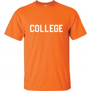College, Orange/White, T-Shirt