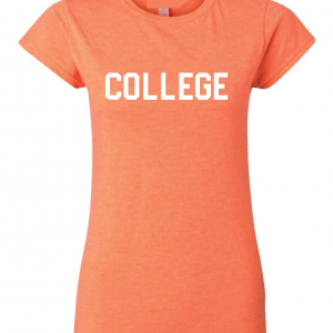 College, Orange/White, Women's Cut T-Shirt
