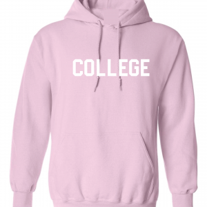 College, Pink/White, Hoodie