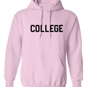College, Pink/Black, Hoodie