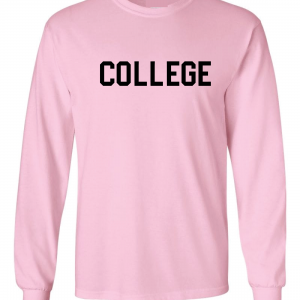 College, Pink/Black, Long-Sleeved