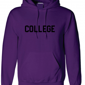 College, Purple/Black, Hoodie