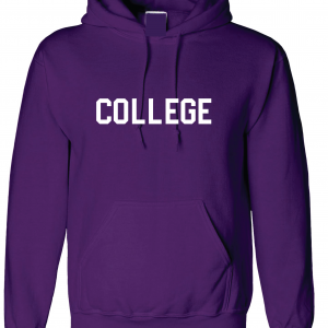College, Purple/White, Hoodie