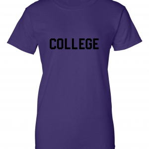 College, Purple/Black, Women's Cut T-Shirt