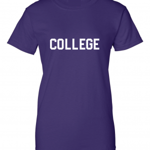 College, Purple/White, Women's Cut T-Shirt
