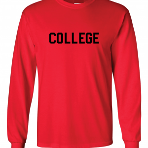 College, Red/Black, Long-Sleeved