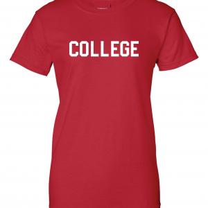 College, Red/White, Women's Cut T-Shirt