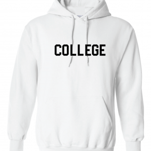 College, White, Hoodie
