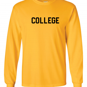 College, Yellow/Black, Long-Sleeved