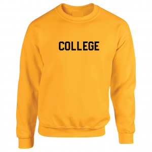 College, Yellow/Black, Crew Sweatshirt
