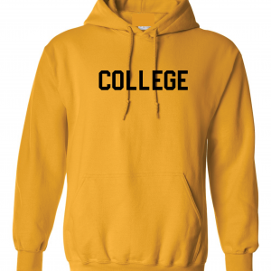 College, Yellow/Black, Hoodie