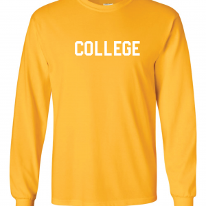 College, Yellow/White, Long-Sleeved