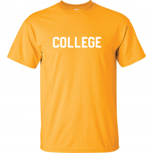 College, Yellow/White, T-Shirt