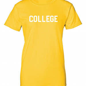 College, Yellow/White, Women's Cut T-Shirt