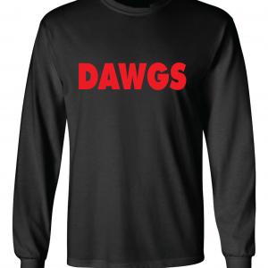 Dawgs - Georgia Bulldogs, Black, Long-Sleeved