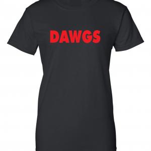 Dawgs - Georgia Bulldogs, Black, Women's Cut T-Shirt
