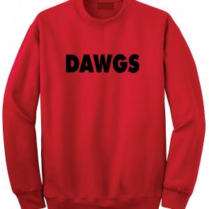 Dawgs - Georgia Bulldogs, Red, Crew Sweatshirt