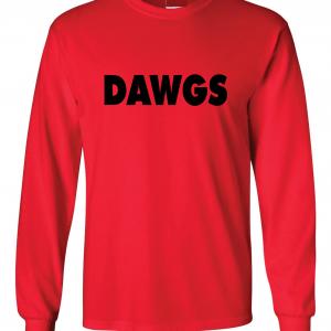 Dawgs - Georgia Bulldogs, Red, Long-Sleeved