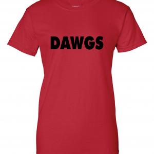 Dawgs - Georgia Bulldogs, Red, Women's Cut T-Shirt