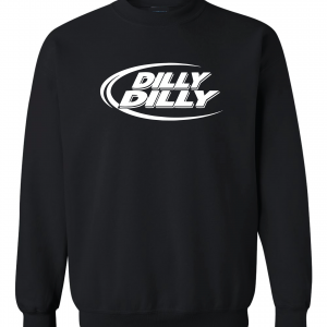 Dilly Dilly, Black, Crew Sweatshirt