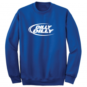 Dilly Dilly, Royal Blue, Crew Sweatshirt