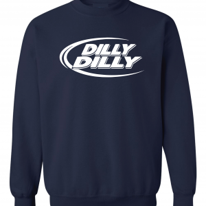 Dilly Dilly, Navy, Crew Sweatshirt