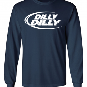 Dilly Dilly, Navy, Long-Sleeved