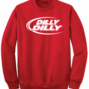 Dilly Dilly, Red, Crew Sweatshirt