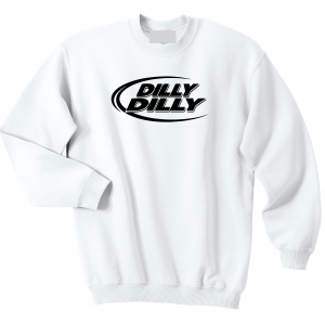 Dilly Dilly, White, Crew Sweatshirt