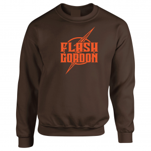 Flash Gordon -Josh Gordon, Brown, Crew Sweatshirt
