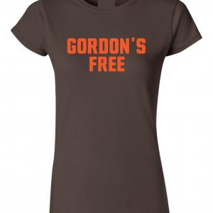 Gordon's Free - Josh Gordon - Cleveland Browns, Brown, Women's Cut T-Shirt