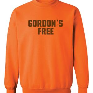 Gordon's Free - Josh Gordon - Cleveland Browns, Orange, Crew Sweatshirt