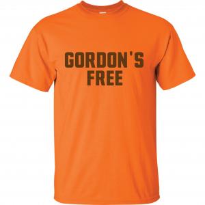 Gordon's Free - Josh Gordon - Cleveland Browns, Orange, T-Shirt