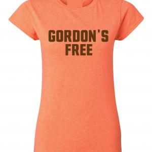 Gordon's Free - Josh Gordon - Cleveland Browns, Orange, Women's Cut T-Shirt