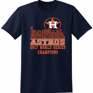 Houston Astros Skyline, Navy, T-Shirt