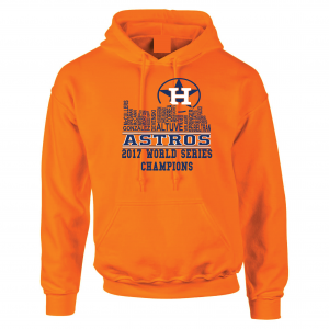 Houston Astros Skyline, Orange, Hoodie
