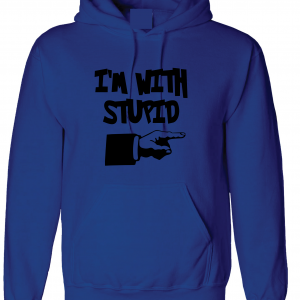 I'm with Stupid, Royal Blue/Black, Hoodie