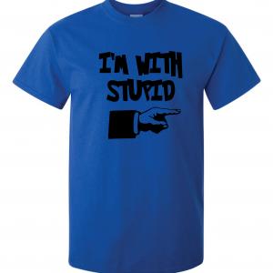 I'm with Stupid, Royal Blue/Black, T-Shirt