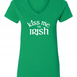 Kiss Me I'm Irish, Green, Women's Cut T-Shirt