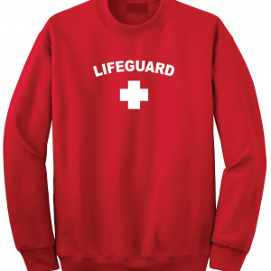 Lifeguard, Red, Crew Sweatshirt