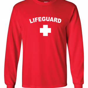 Lifeguard, Red, Long-Sleeved
