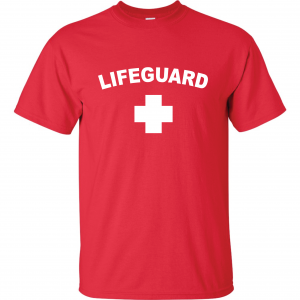 Lifeguard, Red, T-Shirt