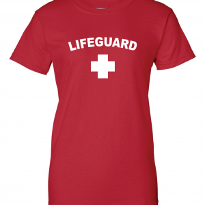 Lifeguard, Red, Women's Cut T-Shirt