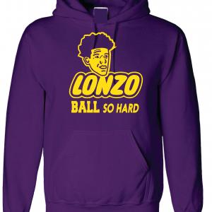 Lonzo Ball So Hard, Purple, Hoodie