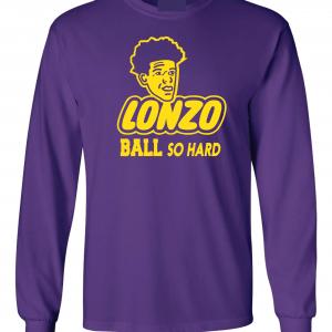 Lonzo Ball So Hard, Purple, Long-Sleeved