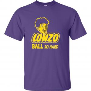 Lonzo Ball So Hard, Purple, T-Shirt