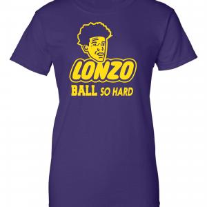 Lonzo Ball So Hard, Purple, Women's Cut T-Shirt