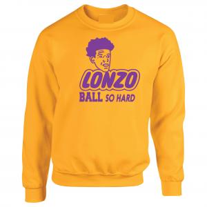 Lonzo Ball So Hard, Gold, Crew Sweatshirt